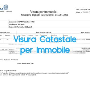 Visura Catastale per Immobile online